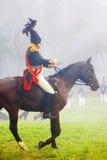 Żołnierz jedzie konia Zdjęcia Stock