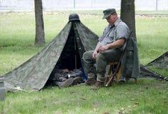 Żołnierz przy odpoczynkiem Obrazy Stock