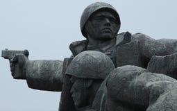 Żołnierz statua, Kijów, Ukraina Obrazy Royalty Free