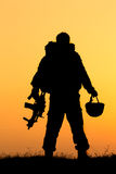 Żołnierz sylwetka Zdjęcie Stock