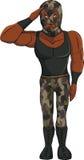 Żołnierza wojownika kreskówka Zdjęcie Royalty Free