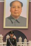 Żołnierze w Tianamen kwadracie Fotografia Royalty Free