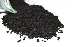 O nigella o mais atrasado e o mais atrasado semeia imagens das sementes Imagem de Stock