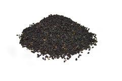 O nigella o mais atrasado e o mais atrasado semeia imagens das sementes Foto de Stock