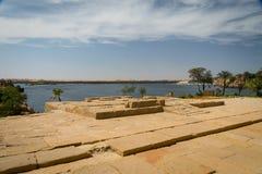 O Nilo do templo de Philae imagem de stock royalty free