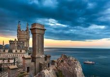 O ninho da andorinha do castelo em Yalta grande 3 Imagens de Stock Royalty Free