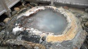 O Noboribetsu famoso Jigokudani - vale do inferno filme
