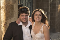 O noivo e a noiva. Imagem de Stock