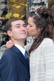 O noivo e a noiva Fotografia de Stock Royalty Free
