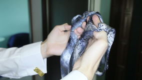 O noivo escolhe o laço video estoque