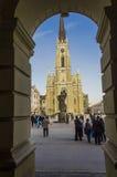 O nome de Mary Church é um romano - igreja paroquial católica em Novi Sad, Sérvia Fotografia de Stock Royalty Free
