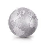 O norte de prata e Ámérica do Sul da ilustração do globo 3D do brilho traçam Fotografia de Stock Royalty Free