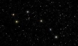 O norte protagoniza na constelação de Ursa Minor Imagens de Stock Royalty Free