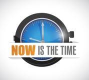 O Now é o projeto da ilustração do relógio do tempo ilustração royalty free