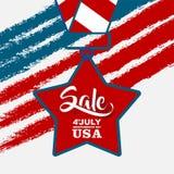 o 4ns da venda de julho, comemoram o Dia da Independência Imagens de Stock Royalty Free