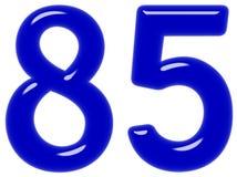 O numeral 85, oitenta e cinco isolados no fundo branco, 3d rende ilustração royalty free