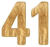 O numeral 41, quarenta uns, isolado no fundo branco, 3d rende imagens de stock royalty free
