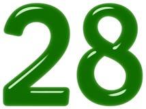 O numeral 28, vinte e oito, isolado no fundo branco, 3d rende ilustração royalty free