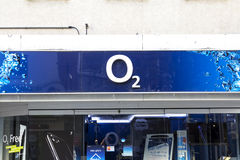 O2. Nurnberg, Germany: the logo of the brand `O 2`, Nurnberg Stock Photography