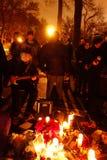 O 34o aniversário da morte de John Lennon em Strawberry Fields 14 Fotografia de Stock Royalty Free