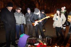 O 34o aniversário da morte de John Lennon em Strawberry Fields 2 Imagem de Stock
