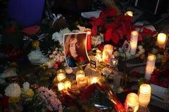 O 34o aniversário da morte de John Lennon em Strawberry Fields 5 Fotografia de Stock Royalty Free