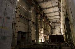 O 5o bloco inacabado do central nuclear de Chernobyl Foto de Stock Royalty Free