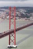O 25o da ponte de abril, Lisboa Foto de Stock Royalty Free