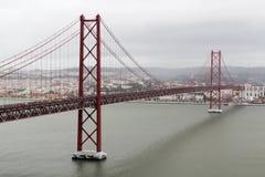 O 25o da ponte de abril, Lisboa Fotografia de Stock