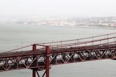 O 25o da ponte de abril, Lisboa Fotos de Stock
