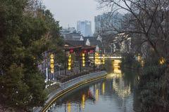 O 30o festival de lanterna de Qinhuai no rio de Qinhuai Fotos de Stock Royalty Free