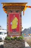 O 4o rei de Butão na passagem do La de Yutong, Butão Fotografia de Stock Royalty Free