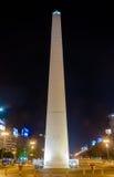 O obelisco - Buenos Aires, Argentina na noite Imagens de Stock