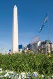 O Obelisk um destino turístico principal em Bueno Fotografia de Stock Royalty Free
