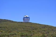 O obervatório astronômico encontrou o La Palma, Ilhas Canárias, Espanha Fotos de Stock Royalty Free