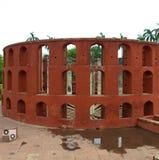 O obervatório de Jantar Mantar em Nova Deli, Índia Fotos de Stock Royalty Free