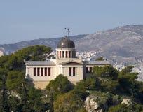 O obervatório nacional velho, vista do Acropolis, Imagens de Stock Royalty Free