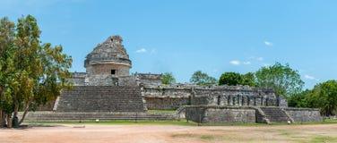 O obervatório, ruínas maias antigas em Chichen Itza, imagem de stock royalty free