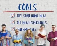 O objetivo explora a ambição do alvo inspira o conceito Imagem de Stock