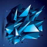 O objeto brilhante assimétrico abstrato com linhas engrena, compli Fotografia de Stock