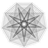 O objeto cósmico é um fractal geométrico Foto de Stock Royalty Free