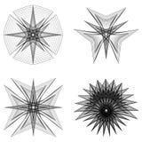 O objeto cósmico é um fractal geométrico Fotos de Stock Royalty Free