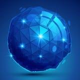 O objeto dimensional do pixel plástico, synthetic pontilhou o iso geométrico ilustração stock