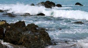 O oceano apressa-se dentro Foto de Stock Royalty Free