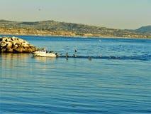 O oceano e a praia bonita em Dana Point CA, EUA fotografia de stock
