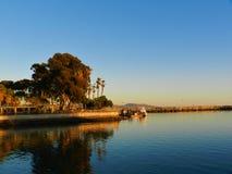 O oceano e a praia bonita em Dana Point CA, EUA foto de stock
