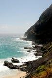 O oceano encontra a terra Foto de Stock