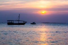 O oceano Sunset Imagem de Stock