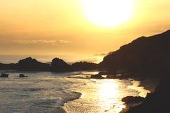 O oceano Sunset Fotografia de Stock Royalty Free