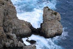 O oceano tece Foto de Stock